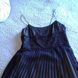 Black Evenings Chiffon  Dress